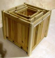 Click to enlarge image  - Large Square Cedar Planter Box WRC - 20 inch X 20 1/2 inch X 15 inch D